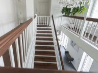 Schutzgeländer und Deckensturz passend zur Treppe