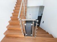 Treppenauge mit Füllung aus Sicherheitsglas